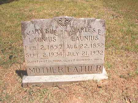 LAUNIUS, CHARLES E - Dallas County, Arkansas | CHARLES E LAUNIUS - Arkansas Gravestone Photos