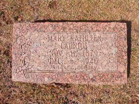 LAUNIUS, MARY KATHLEEN - Dallas County, Arkansas | MARY KATHLEEN LAUNIUS - Arkansas Gravestone Photos