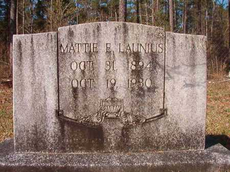 LAUNIUS, MATTIE E - Dallas County, Arkansas | MATTIE E LAUNIUS - Arkansas Gravestone Photos