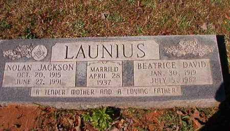 LAUNIUS, NOLAN JACKSON - Dallas County, Arkansas | NOLAN JACKSON LAUNIUS - Arkansas Gravestone Photos