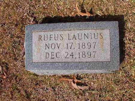 LAUNIUS, RUFUS - Dallas County, Arkansas | RUFUS LAUNIUS - Arkansas Gravestone Photos