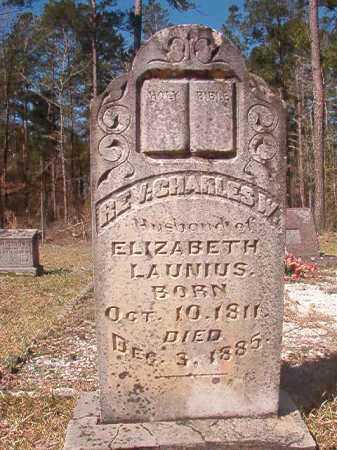 LAUNIUS, REV, CHARLES W - Dallas County, Arkansas | CHARLES W LAUNIUS, REV - Arkansas Gravestone Photos