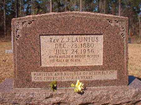 LAUNIUS, REV, Z J - Dallas County, Arkansas | Z J LAUNIUS, REV - Arkansas Gravestone Photos