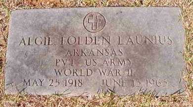 LAUNIUS (VETERAN WWII), ALGIE FOLDEN - Dallas County, Arkansas | ALGIE FOLDEN LAUNIUS (VETERAN WWII) - Arkansas Gravestone Photos