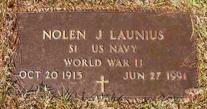 LAUNIUS (VETERAN WWII), NOLEN J - Dallas County, Arkansas | NOLEN J LAUNIUS (VETERAN WWII) - Arkansas Gravestone Photos