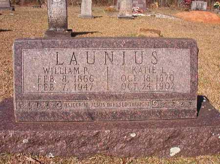 LAUNIUS, WILLIAM P - Dallas County, Arkansas | WILLIAM P LAUNIUS - Arkansas Gravestone Photos