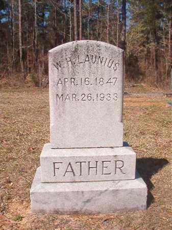 LAUNIUS, W H - Dallas County, Arkansas | W H LAUNIUS - Arkansas Gravestone Photos
