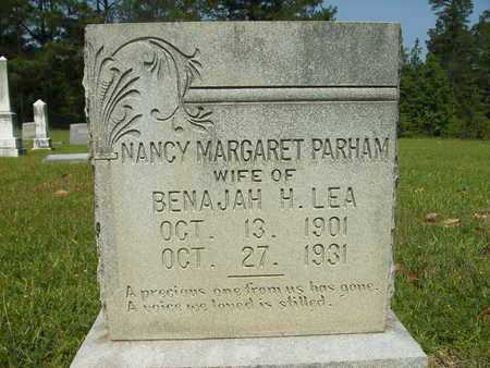 PARHAM LEA, NANCY MARGARET - Dallas County, Arkansas | NANCY MARGARET PARHAM LEA - Arkansas Gravestone Photos