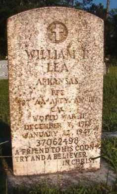 LEA (VETERAN WWII), WILLIAM R - Dallas County, Arkansas | WILLIAM R LEA (VETERAN WWII) - Arkansas Gravestone Photos