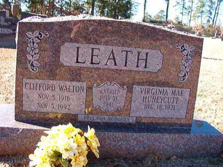LEATH, CLIFFORD WALTON - Dallas County, Arkansas | CLIFFORD WALTON LEATH - Arkansas Gravestone Photos
