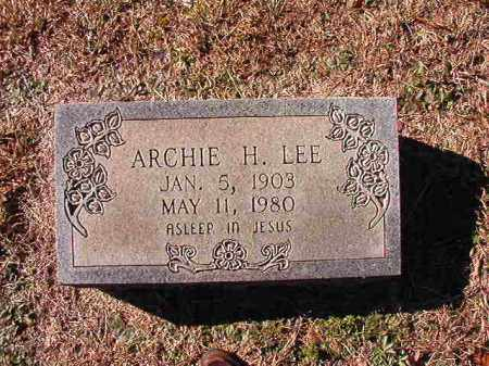 LEE, ARCHIE H - Dallas County, Arkansas | ARCHIE H LEE - Arkansas Gravestone Photos