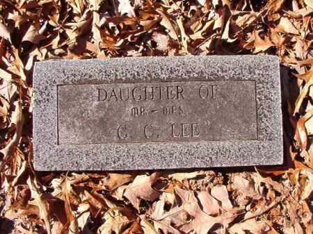 LEE, DAUGHTER - Dallas County, Arkansas | DAUGHTER LEE - Arkansas Gravestone Photos