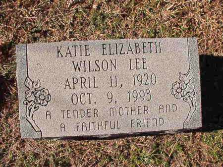 WILSON LEE, KATIE ELIZABETH - Dallas County, Arkansas | KATIE ELIZABETH WILSON LEE - Arkansas Gravestone Photos