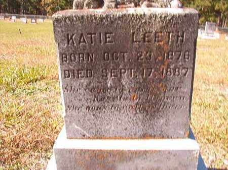 LEETH, KATIE - Dallas County, Arkansas | KATIE LEETH - Arkansas Gravestone Photos