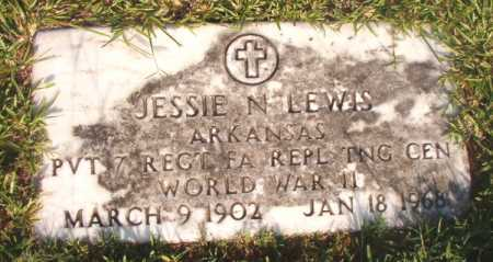 LEWIS (VETERAN WWII), JESSIE N - Dallas County, Arkansas | JESSIE N LEWIS (VETERAN WWII) - Arkansas Gravestone Photos