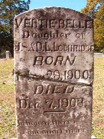 LOCHRIDGE, VERTIE BELLE - Dallas County, Arkansas | VERTIE BELLE LOCHRIDGE - Arkansas Gravestone Photos