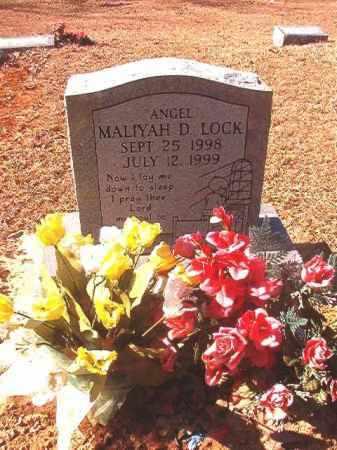 LOCK, MALIYAH D - Dallas County, Arkansas | MALIYAH D LOCK - Arkansas Gravestone Photos