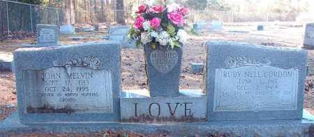 LOVE, JOHN MELVIN - Dallas County, Arkansas | JOHN MELVIN LOVE - Arkansas Gravestone Photos