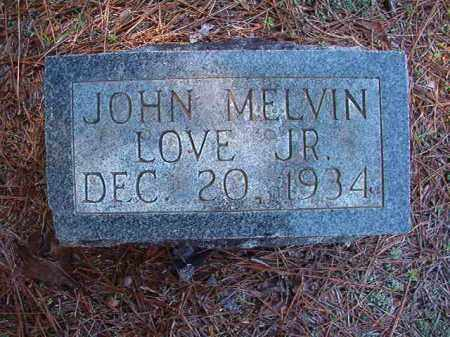 LOVE, JR, JOHN MELVIN - Dallas County, Arkansas | JOHN MELVIN LOVE, JR - Arkansas Gravestone Photos