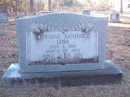 SANDIDGE LOVE, LORRAINE - Dallas County, Arkansas | LORRAINE SANDIDGE LOVE - Arkansas Gravestone Photos