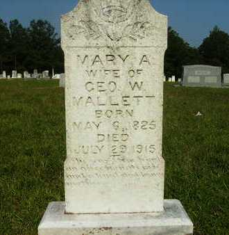 MALLETT, MARY A - Dallas County, Arkansas | MARY A MALLETT - Arkansas Gravestone Photos