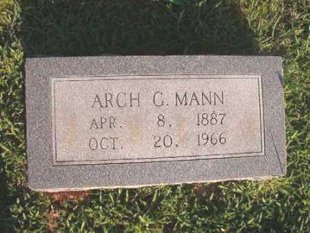 MANN, ARCH G - Dallas County, Arkansas | ARCH G MANN - Arkansas Gravestone Photos
