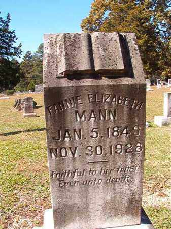 MANN, FANNIE ELIZABETH - Dallas County, Arkansas | FANNIE ELIZABETH MANN - Arkansas Gravestone Photos