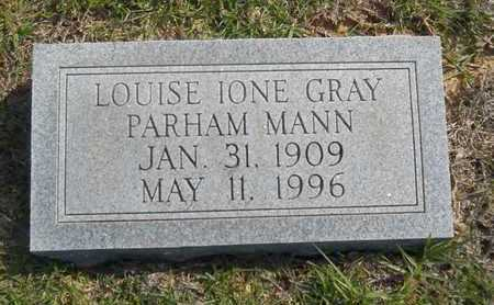 GRAY MANN, LOUISE IONE - Dallas County, Arkansas | LOUISE IONE GRAY MANN - Arkansas Gravestone Photos