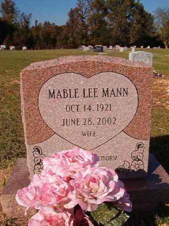 MANN, MABLE LEE - Dallas County, Arkansas | MABLE LEE MANN - Arkansas Gravestone Photos