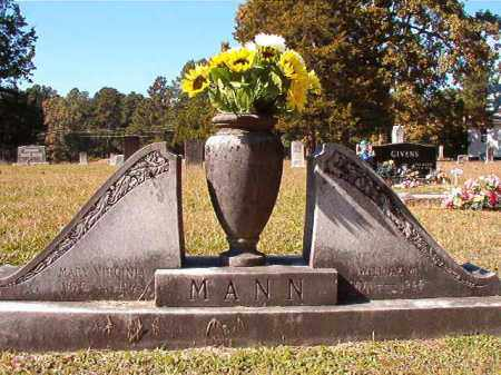 MANN, MARY VIRGINIA - Dallas County, Arkansas | MARY VIRGINIA MANN - Arkansas Gravestone Photos