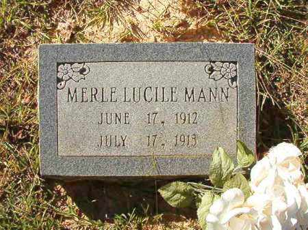 MANN, MERLE LUCILE - Dallas County, Arkansas | MERLE LUCILE MANN - Arkansas Gravestone Photos