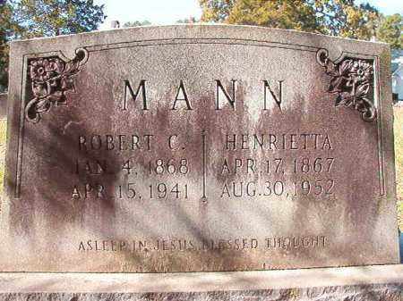 MANN, HENRIETTA - Dallas County, Arkansas | HENRIETTA MANN - Arkansas Gravestone Photos