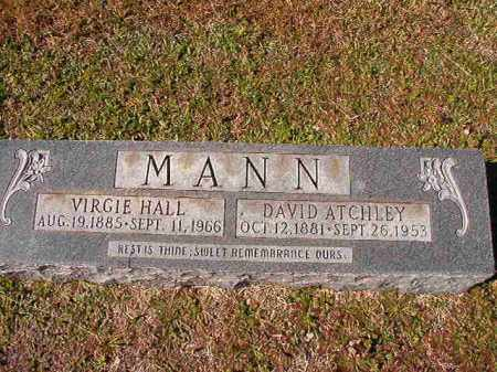 HALL MANN, VIRGIE - Dallas County, Arkansas | VIRGIE HALL MANN - Arkansas Gravestone Photos