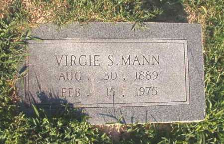 MANN, VIRGIE S - Dallas County, Arkansas | VIRGIE S MANN - Arkansas Gravestone Photos