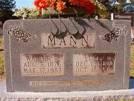 MANN, WALTER R - Dallas County, Arkansas | WALTER R MANN - Arkansas Gravestone Photos