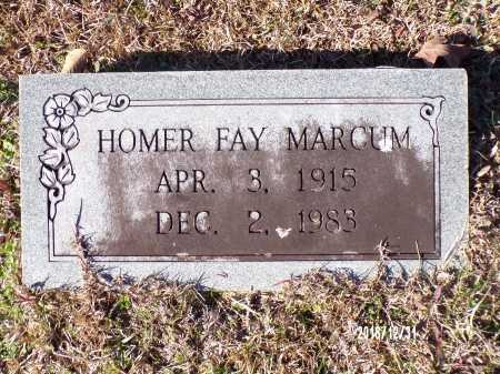 MARCUM, HOMER FAY - Dallas County, Arkansas | HOMER FAY MARCUM - Arkansas Gravestone Photos