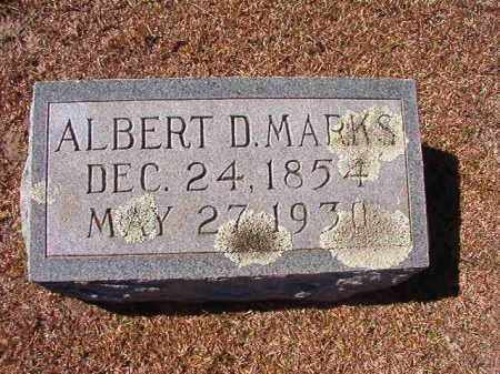 MARKS, ALBERT D - Dallas County, Arkansas | ALBERT D MARKS - Arkansas Gravestone Photos