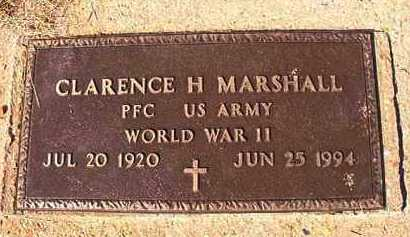 MARSHALL (VETERAN WWII), CLARENCE H - Dallas County, Arkansas | CLARENCE H MARSHALL (VETERAN WWII) - Arkansas Gravestone Photos