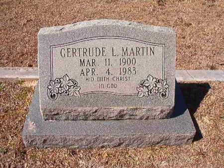 MARTIN, GERTRUDE L - Dallas County, Arkansas | GERTRUDE L MARTIN - Arkansas Gravestone Photos