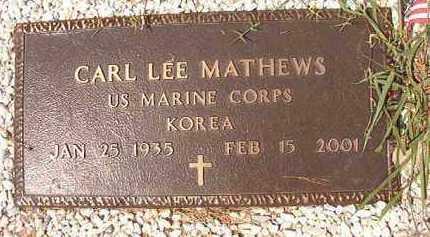 MATHEWS (VETERAN KOR), CARL LEE - Dallas County, Arkansas | CARL LEE MATHEWS (VETERAN KOR) - Arkansas Gravestone Photos