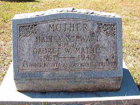 MATHIS, MALICA - Dallas County, Arkansas | MALICA MATHIS - Arkansas Gravestone Photos