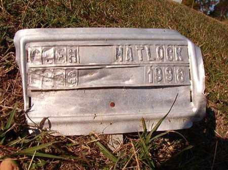MATLOCK, GLEN - Dallas County, Arkansas   GLEN MATLOCK - Arkansas Gravestone Photos