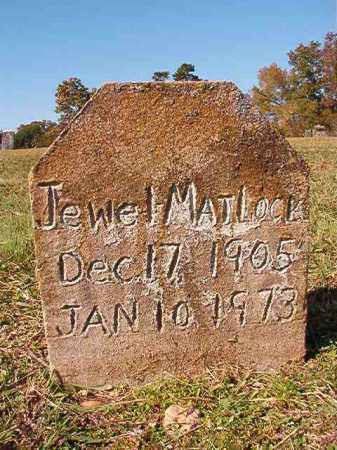 MATLOCK, JEWEL - Dallas County, Arkansas | JEWEL MATLOCK - Arkansas Gravestone Photos
