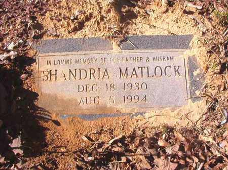 MATLOCK, SHANDRIA - Dallas County, Arkansas | SHANDRIA MATLOCK - Arkansas Gravestone Photos