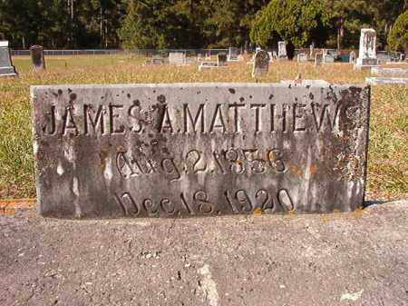 MATTHEWS, JAMES A - Dallas County, Arkansas | JAMES A MATTHEWS - Arkansas Gravestone Photos