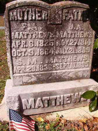 MATTHEWS, P A - Dallas County, Arkansas | P A MATTHEWS - Arkansas Gravestone Photos