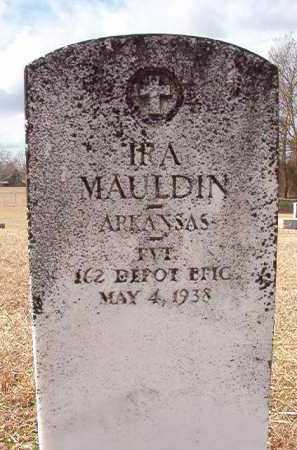 MAULDIN (VETERAN), IRA - Dallas County, Arkansas | IRA MAULDIN (VETERAN) - Arkansas Gravestone Photos