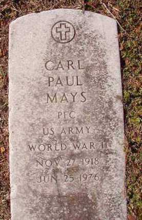 MAYS (VETERAN WWII), CARL PAUL - Dallas County, Arkansas | CARL PAUL MAYS (VETERAN WWII) - Arkansas Gravestone Photos