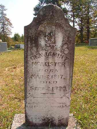 MCALISTER, BENJAMIN F - Dallas County, Arkansas | BENJAMIN F MCALISTER - Arkansas Gravestone Photos