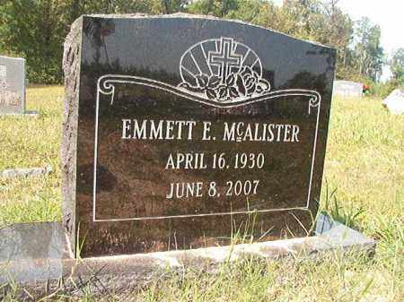 MCALISTER, EMMETT E - Dallas County, Arkansas | EMMETT E MCALISTER - Arkansas Gravestone Photos